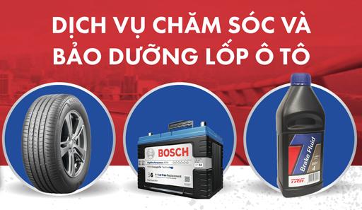 Dịch vụ chăm sóc bảo dưỡng lốp ô tô